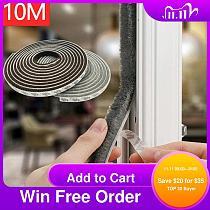 10M Self Adhesive Seal Strip Door Draught Excluder Window Pile Seal Film Door Brush Swal Weather Strip for Door Protector Strip