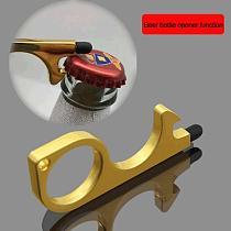 Press Elevator Portable Door Opener Contactless Tool Hygiene Hand Alloy Hand Hygiene Hook Handle Key Metal Door Opener Key Ring