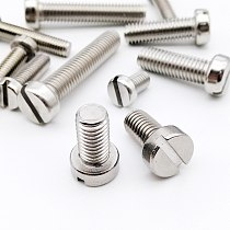 10/50pcs M3 M4 M5 M6 M8 304 A2-70 stainless steel GB65 Slotted Cap Head Slot Column Round Cheese Head Screw Bolt Length=4-100mm