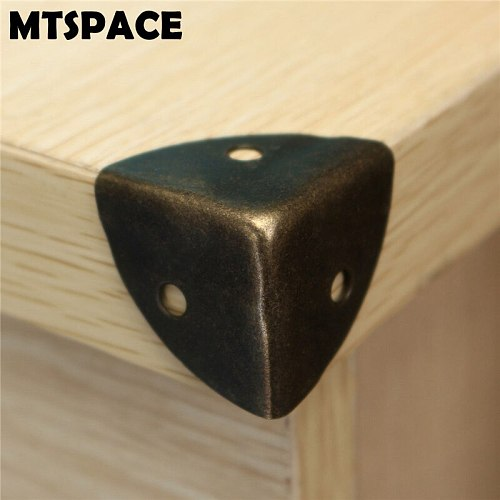 MTSPACE 12pcs/Set Iron Decorative Antique Jewelry Wine Gift Box Wooden Case Corner Protector Guard Bronze Decorate Your Desk box