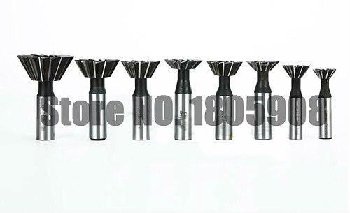 1PCS 45/55/60 Degree HSS Dovetail Cutter End Mill Milling 10mm 12mm 14mm 16mm 18mm 20mm 25mm 30mm 32mm 35mm 40mm 45mm 50mm 60mm