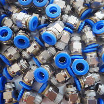Pneumatic fitting air 10mm 8mm 6mm hose tube 1/4  BSP 1/2  1/8 male thread air tube connector  3/8  quick coupling brass fittin