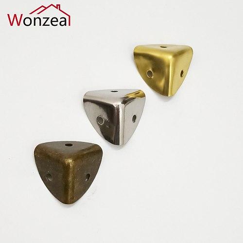 12pcs Antique Bronze Furniture Metal Crafts Jewelry Box Corner Foot Wooden Case Corner Protector Decorative Corner