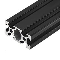 1PC BLACK 2040 European Standard Anodized Aluminum Profile Extrusion 100-800mm Length Linear Rail  for CNC 3D Printer