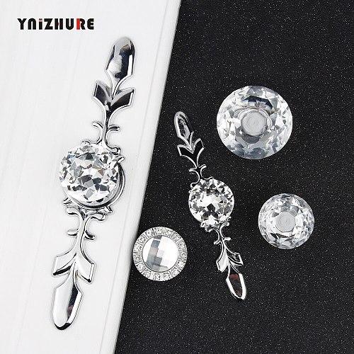 Hot Luxury Diamond Crystal Handles Shoebox Cabinet Handles Closet Door Drawer Knobs Wardrobe Pulls Pullers With Screws Hardware