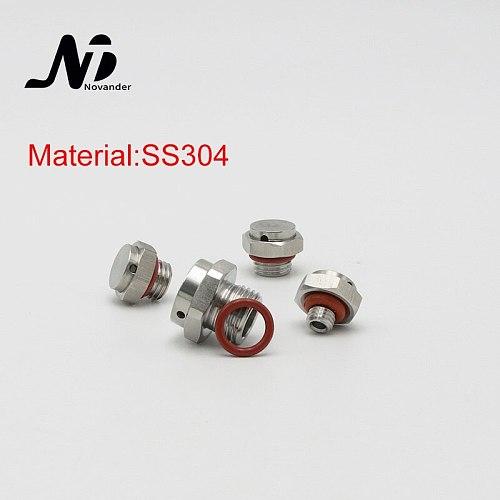 10 pcs Waterproof Metal Screw Vent Plug SS304 M5/M6/M8/M10/M12/M15/M16/M20 Stainless Steel Breathable Screw Vent Valve