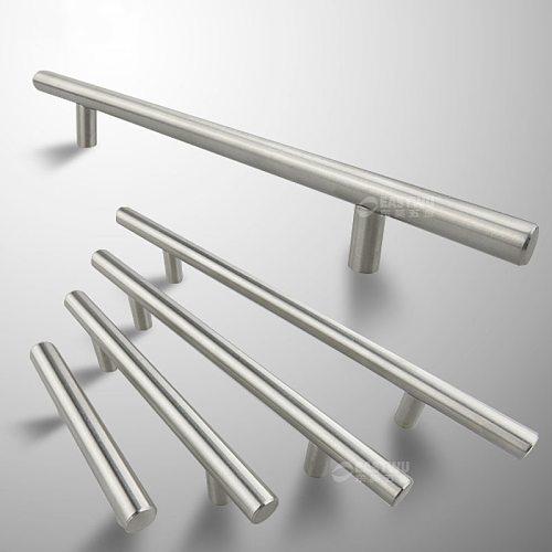 Diameter 10mm Stainless Steel Kitchen Door Cabinet T Bar Handle Pull Knob 2  ~ 24'' door pull handle  stainless door handle