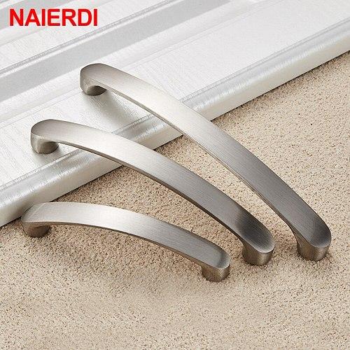 NAIERDI Cabinet Handles Knobs Aluminum Alloy Door Kitchen Knobs Brushed Cabinet Pulls Drawer Modern Furniture Handle Hardware