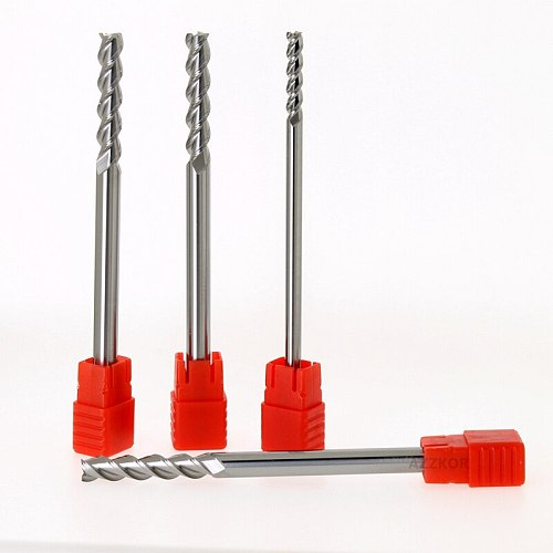 Milling Cutter Alloy Coating Tungsten Steel Tool 3 Blade Lengthen Milling Cutter Woodding Cutter By Aluminum Cnc Maching Hrc55