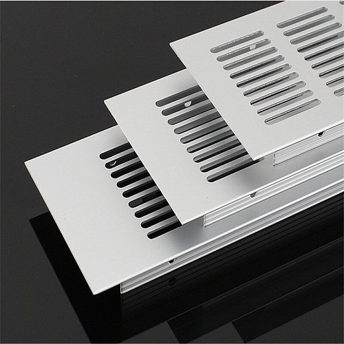 1pcs Aluminium Alloy Air Vent Grille Cover Hardware Ventilation Grille Accessory Perforated Sheet for Plate Cabinet Mesh Hole