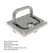 Hatch Pull Deck Cover Handle Corrosion Resistant Lifting Stainless Steel Boat Hardware Accessories Locker Ring Floor Buckle