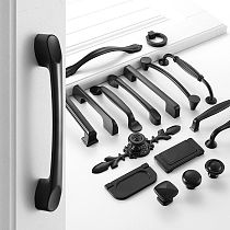 PQB Black Handles for Furniture Cabinet Knobs and Handles Kitchen Handles Drawer Knobs Cabinet Pulls Cupboard Handles Knobs
