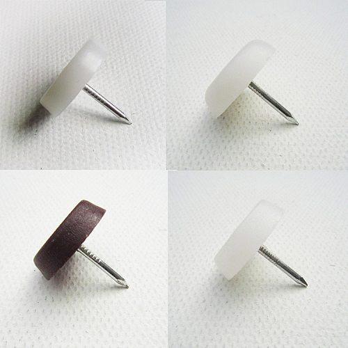 32 Pcs Chair Table Furniture Leg Bottom Feet Glides Slide Blanket  Wood Floor Protector Noise Killer Nail on 3 size