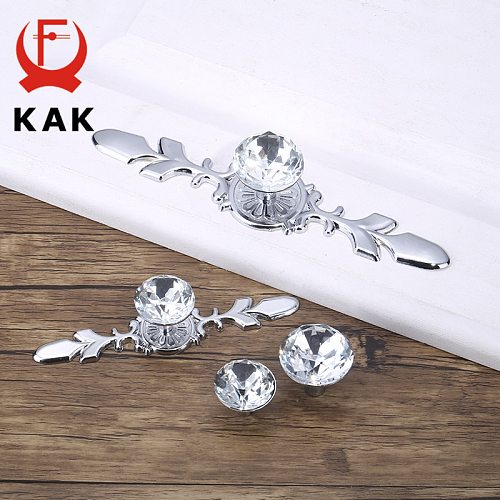 KAK Luxury Diamond Crystal Handles Shoebox Cabinet Handles Closet Door  Drawer Knobs Wardrobe Pulls Pullers With Screws Hardware
