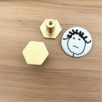 LCH Nordic Style Hexagon Solid Brass Cabinet Knob Cupboard Handle Door Pull Handles SimpleLife Brass Color Entryway Clothes Hook