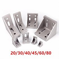 5/20pcs 2020 2028 3030 3060 4040 4080 6060 8080 Aluminum corner bracket for 20/30/40/45/60 Aluminum profile connector CNC Router