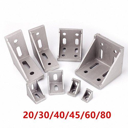 5/20pcs 2020 2028 3030 3060 4040 4080 6060 8080 Aluminum corner bracket for 20/30/40/45/60 Aluminum profile connector CNC Router