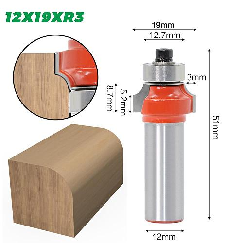 1pcs 12mm shank Corner Round Over Router Bit with BearingMilling Cutter for Wood Woodwork Tungsten Carbide