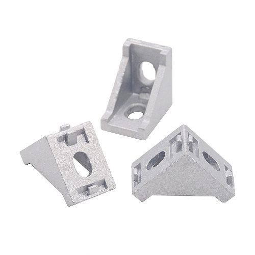 HOTSale 20pcs 2028 corner fitting angle aluminum 20 x 28 L connector bracket fastener match use 2020 industrial aluminum profile