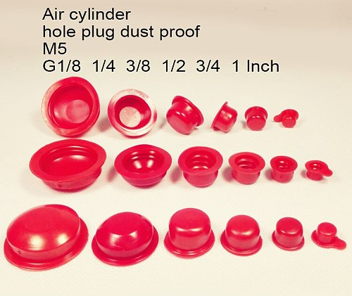 1/8 1/4 12 3/8 1/2  3/4 1 inch M5 Air cylinder hole plug PVC plastic cap inner thread nut pipe cover dust proof  hole Core Vents