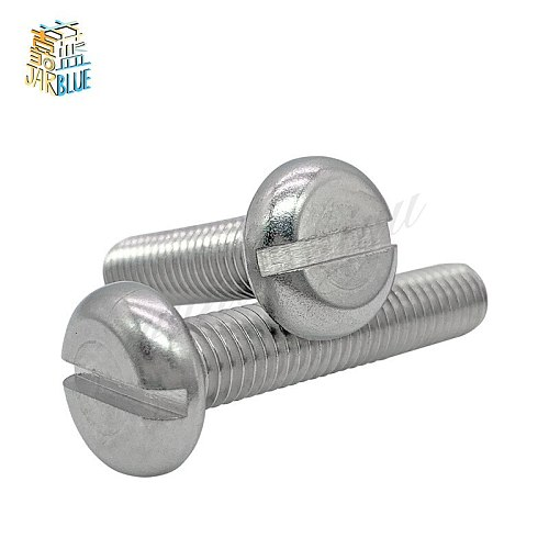 10/50pcs M1.6 M2 M2.5 M3 M4 M5 M6 304 A2-70 stainless steel GB67 Metric Threaded Slotted Pan Head Round Head Machine Screw Bolt