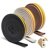 Useful 1pc 5m Self Adhesive D Type Doors and for Windows Foam Seal Strip Soundproofing Collision Avoidance Rubber Seal Collision