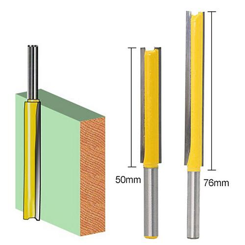 New 1pcs 1/4  Shank 50/76mm Extra Long Flush Trim Router Bit Woodworking Milling Cutter Tools