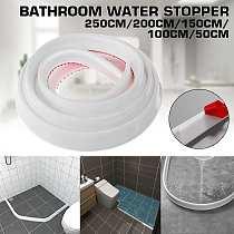 Bathroom Water Stopper Water retaining strip Bathroom door washing machine Collapsible Shower Threshold Water shower dam Barrier