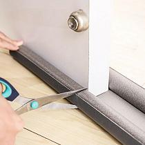 95cm Flexible Door Bottom Sealing Strip Guard Blocker Sealer Door Dust Stopper Weatherstrip Door Stopper Wind Guard Wind Dust