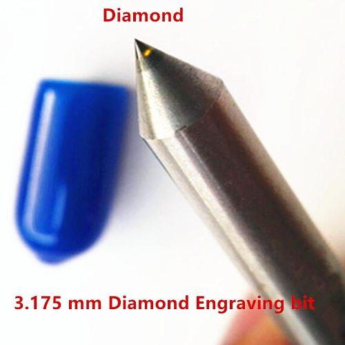 3.175 mm 3mm Diamond Engraving bits drag engraver cnc diamond point metal stone Carving milling cutting tools 2pcs