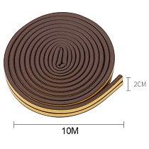 10M Type DIEP Self Adhesive Door Sealing Strips Self Adhesive Window Foam Wind Waterproof Dustproof Sound Insulation Tools