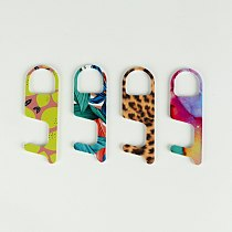 Portable Press Elevator Tool No-Touch Door Opener Hygiene Hand Antimicrobial Acrylic EDC Door Opener Safety Door Handle Key