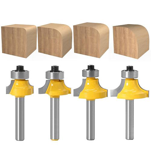 1pcs 6mm shank Corner Round Over Router Bit with BearingMilling Cutter for Wood Woodwork Tungsten Carbide