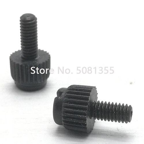 100pcs M3 M4 M5 M6 M8  Black or white  nylon hand tighten screws ,  antirust bolt plastic knurled screws insulation bolts