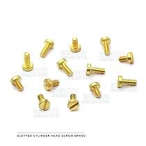 10-50pcs/lot DIN84 Brass cheese head slotted screw M1.2 M1.4 M1.6 M2 M2.5 M3