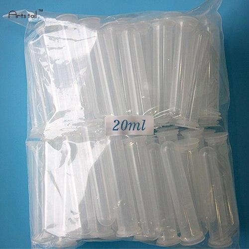 20 ml Centrifuge Tube Plastic Test Tube EP Flat Socket Cap Round Bottom Sample Bottle Thick Wall Appropriate Elasticity 20PCS
