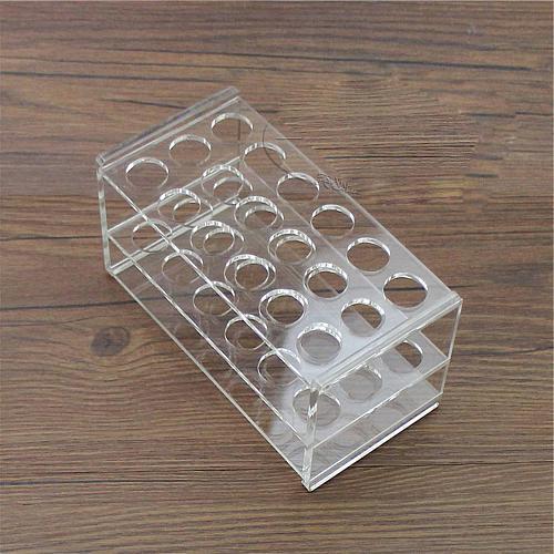 17mm Diam 18 Holes Methyl Methacrylate Rack Stand For 10/15ml Centrifuge Tubes