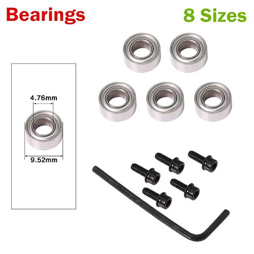 Top Mounted 1/2 , 3/8 , 3/4  Bearings & Stop Ring  For 1/4 1/2 Shank Router Bit
