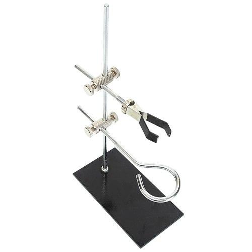 1PC Metal Mini Lab Bracket Laboratory Support Stand Alcohol Bottle School Rod Length 29cm Silver Black
