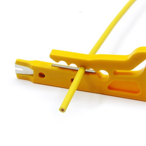 2pcs Mini Pocket Portable Wire Stripper Knife Crimper Pliers Crimping Tool Cable Stripping Wire Cutter Crimpatrice Tool Parts