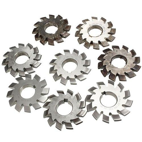 Module 4 M4 PA20 Degrees Bore 27-28mm #1-8 HSS Involute Gear Milling Cutter High Speed Steel Milling Cutter Gear Cutting Tools