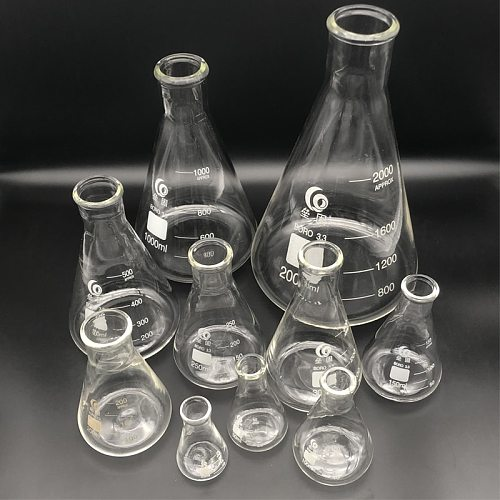 Thicken Glass Erlenmeyer Flask Laboratory Conical Flask  Borosilicate 3.3 High Temperature Resistance Measuring Glass