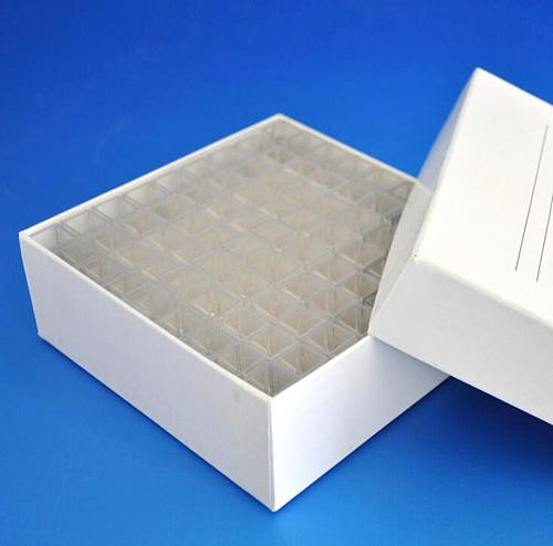 Box 81pcs 4.5ml Square Plastic Test Tubes vials container craft cuvette Lab Kit Tools