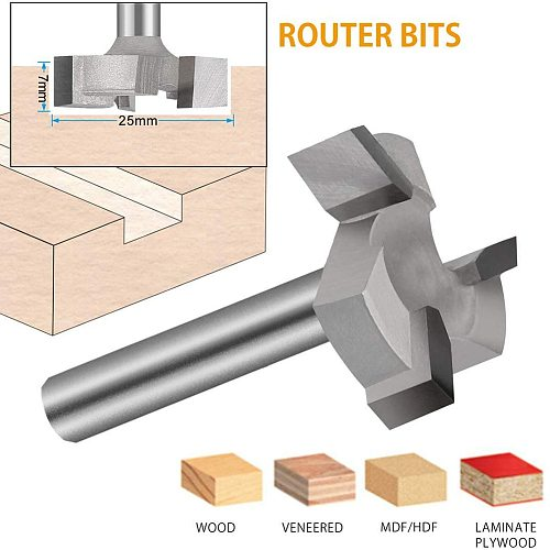 CNC Spoilboard Surfacing Milling Cutter Router Bit 1/4 Inch Shank Carbide Tipped Woodworking Engraving Carving Cutting Tools