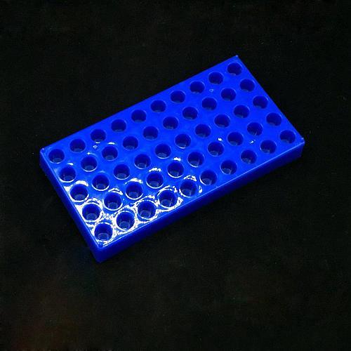 Plastc Vial Rack 50 Holds Diameter 12mm 1.5/2ml Vials Centrifuge Tube Rack