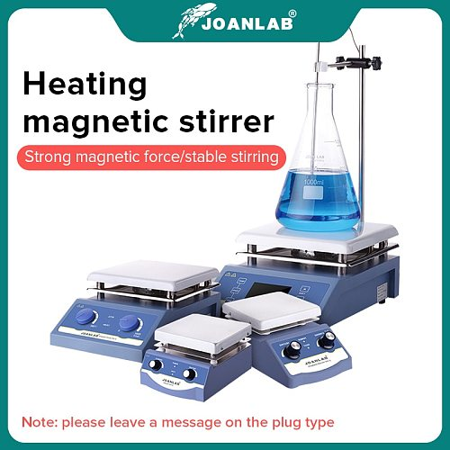 JOANLAB Heating Magnetic Stirrer Hot Plate Lab Stirrer Digital Display Magnetic Mixer Lab Equipment 1L 3L 5L 220v With Stir Bar