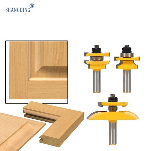 3 Set Carpentry Milling Cutter Carving Machine Carpentry Knife Kitchen Door Knife Cabinet Door Knife Nail Tenon Combine Knife