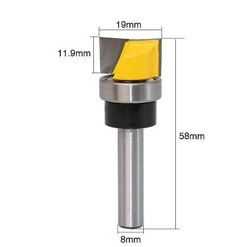 1PC Hinge Mortise/Template Router Bit - 3/4 W X 7/16 H Bottom Cleaning Straight end mill trimmer cleaning flush trim