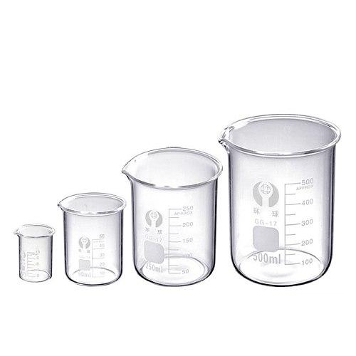 Hot Sale 5ml/10ml/50ml/100ml Transparent Glass Measuring Cup Beaker Chemistry Lab Glassware School Office Supplies Wholesale