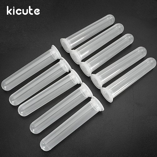 Kicute 10pcs/set 20ML Micro Centrifuge Test Tube Clear Plastic Vial Container With Snap Cap Lid For Laboratory Sample Supply